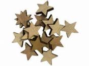 Drevený výrez hviezdička 2cm - prírodná