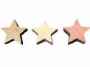 Drevený výrez hviezdička 2 cm - vintage biela