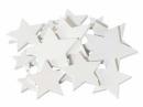 Drevený výrez hviezdička 3 cm - biela