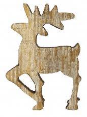 Drevený výrez jeleň 4 cm - vintage hnedý