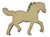Drevený výrez kôň 3 cm - prírodný