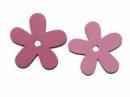 Drevený výrez kvet - 3,5cm - cyklamenový