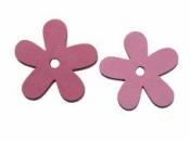 Drevený výrez kvet - 3,5cm - ružový