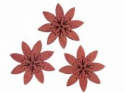 Drevený výrez kvet folk 4cm - svetlý ružový