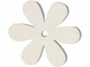 Drevený výrez kvet - 4cm - biely