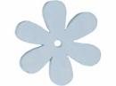 Drevený výrez kvet - 4cm - modrý