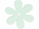 Drevený výrez kvet - 4cm - jarný zelený
