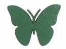 Drevený výrez motýľ - 3,5cm - tyrkysový zelený