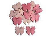 Drevený výrez 4 cm motýľ - tmavý ružový