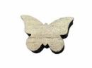 Drevený výrez 3 cm motýľ - prírodný