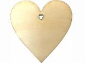 Drevený výrez srdce 10 cm
