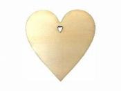 Drevený výrez srdce 5 cm