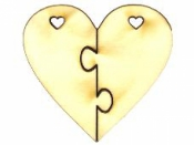 Drevený výrez srdce 5cm - puzzle