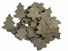 Drevený výrez stromček 3cm - vintage šedý