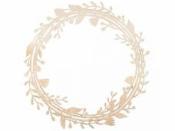Drevený výrez veniec/kruh kvet - 31cm