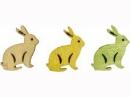 Drevený výrez 2 cm zajac  - žltý