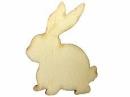 Drevený výrez 5,5 cm zajac  - prírodný