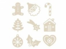 Dýhové výrezy - 27 ks - vianoce