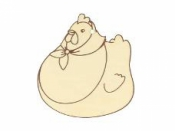 Dýhové výrezy 3ks - sliepka