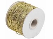 Klobúková elastická šnúrka zlatá - 1mm