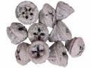 Eukalyptové plody farbené 10 ks - pastelové fialové