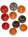 Drevené farebné gombíky 20 mm - 10 ks