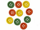 Drevené farebné gombíky 15 mm - 10 ks