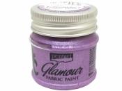 Metalická farba na textil Glamour 50 ml - fialovo-strieborná