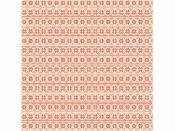 Filc 1 mm 30 x 30 vzorovaný - červené kvety
