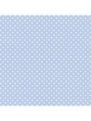 Filc 1 mm 30 x 30 vzorovaný - modrý s bodkami