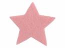 Filcová hviezda 7 cm - ružová