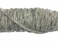 Filcová šnúra - melírovaná sivá