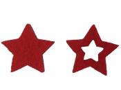 Filcová hviezda 2,5cm - červená
