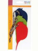 Filcové výrezy 3ks - vtáčiky