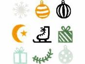 Filcové výrezy 45ks - Vianoce