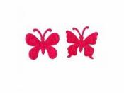 Filcový výrez - motýľ - cyklamenový