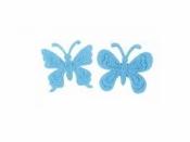 Filcový výrez - motýľ - modrý