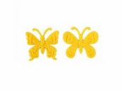 Filcový výrez - motýľ - žltý