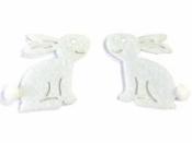 Filcový výrez zajac 4,5cm - biely