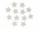Glitrovaná hviezdička penová 2 cm - biela