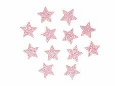 Glitrovaná hviezdička penová 2 cm - svetlá ružová