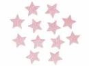 Glitrovaná hviezdička penová 5 cm - svetlá ružová