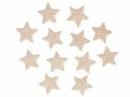Glitrovaná hviezdička penová 4 cm - platinová zlatá