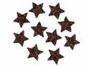 Glitrovaná hviezdička penová 2 cm - tmavá hnedá