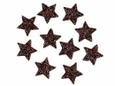 Glitrovaná hviezdička penová 5 cm - hnedá