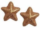 Glitrovaná  hviezdička 3,5 cm - medená
