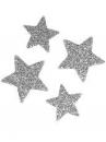 Glitrovaná hviezdička lepenková 3 cm - strieborná