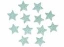 Glitrovaná hviezdička penová 1,5 cm - mentolová zelená
