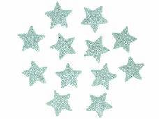 Glitrovaná hviezdička penová 4 cm - mentolová zelená