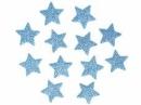 Glitrovaná hviezdička penová 2 cm - svetlá modrá